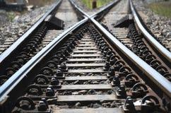Πραγματικός τρόπος σιδηροδρόμων Στοκ Εικόνα