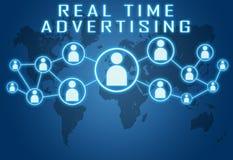 Πραγματικός - χρονική διαφήμιση απεικόνιση αποθεμάτων