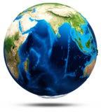 Πραγματικό ανάγλυφο πλανήτη Γη Στοκ εικόνα με δικαίωμα ελεύθερης χρήσης