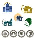 πραγματικό καθορισμένο γραμματόσημο κτημάτων εμβλημάτων ελεύθερη απεικόνιση δικαιώματος