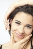 Πραγματικό όμορφο νέο κορίτσι Στοκ εικόνα με δικαίωμα ελεύθερης χρήσης