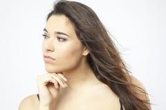 Πραγματικό όμορφο νέο κορίτσι Στοκ φωτογραφία με δικαίωμα ελεύθερης χρήσης