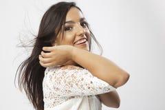 Πραγματικό όμορφο νέο κορίτσι Στοκ Φωτογραφίες