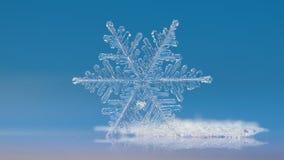 Πραγματικό snowflake που ακτινοβολεί στο ομαλό υπόβαθρο κλίσης Στοκ φωτογραφίες με δικαίωμα ελεύθερης χρήσης