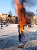 πρακτικά ενάντια στην Ευρώπη Lublin Πολωνία Στοκ φωτογραφία με δικαίωμα ελεύθερης χρήσης