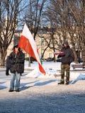 πρακτικά ενάντια στην Ευρώπη Lublin Πολωνία Στοκ Εικόνες