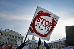 πρακτικά ενάντια στην κυβερνητική διαμαρτυρία Στοκ φωτογραφία με δικαίωμα ελεύθερης χρήσης