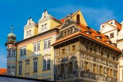 Πρακτικά του U σπιτιών στην παλαιά πλατεία της πόλης, Δημοκρατία της Τσεχίας Στοκ φωτογραφίες με δικαίωμα ελεύθερης χρήσης