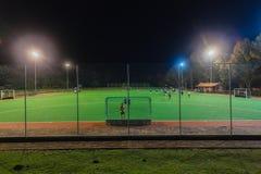 Πρακτική νύχτας παικτών τομέων Astro χόκεϋ Στοκ φωτογραφίες με δικαίωμα ελεύθερης χρήσης