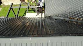 Πρακτική στέγη πλύσης ατόμων με την υψηλή πίεση φιλμ μικρού μήκους