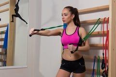 Πρακτική στη γυμναστική Στοκ Εικόνες