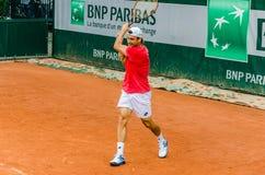 Πρακτική του Δαβίδ Ferrer, Roland Garros 2014 στοκ εικόνα με δικαίωμα ελεύθερης χρήσης