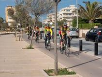 Πρακτική Bicyclists Στοκ φωτογραφία με δικαίωμα ελεύθερης χρήσης