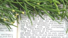 Πρασινάδα με το scripture Χριστουγέννων, Isaiah 9:6 Στοκ φωτογραφίες με δικαίωμα ελεύθερης χρήσης