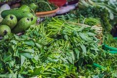 Πρασινάδα στη βιετναμέζικη αγορά Ασιατική έννοια κουζίνας Στοκ φωτογραφίες με δικαίωμα ελεύθερης χρήσης