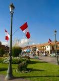 Πρασινάδα Plaza de Armas σε Cusco Στοκ φωτογραφία με δικαίωμα ελεύθερης χρήσης