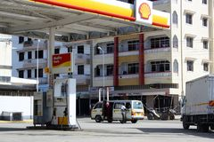Πρατήριο βενζίνης Μομπάσα Στοκ Εικόνες