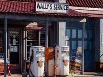 Πρατήριο βενζίνης Wally ` s Στοκ φωτογραφία με δικαίωμα ελεύθερης χρήσης