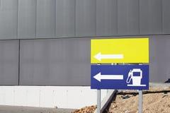 Πρατήριο καυσίμων και κενά σήματα Στοκ Εικόνες