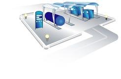 Πρατήριο καυσίμων διανυσματική απεικόνιση