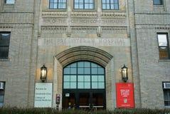 Πρεσβυτεριανό νοσοκομείο της Νέας Υόρκης, κυρία είσοδος στοκ φωτογραφία