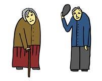 Πρεσβύτεροι παππούδων γιαγιάδων Στοκ Εικόνα