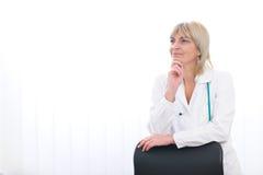 πρεσβύτερος πορτρέτου γιατρών Στοκ Εικόνες