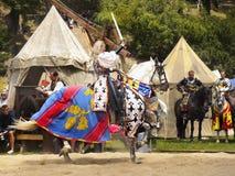 Πριγκήπισσα και ιππότες, μεσαιωνικό ιστορικό φεστιβάλ Στοκ Εικόνες