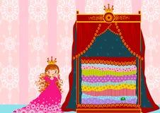 Πριγκήπισσα και το μπιζέλι Στοκ εικόνα με δικαίωμα ελεύθερης χρήσης