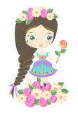 Πριγκήπισσα λουλουδιών Στοκ εικόνες με δικαίωμα ελεύθερης χρήσης