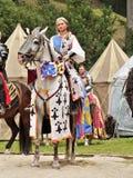 Πριγκήπισσα στην πλάτη αλόγου, μεσαιωνικό φεστιβάλ ιπποτών Στοκ φωτογραφία με δικαίωμα ελεύθερης χρήσης