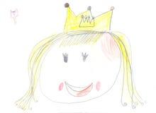 πριγκήπισσα σχεδίων παιδ&io Στοκ εικόνες με δικαίωμα ελεύθερης χρήσης
