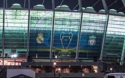 Πριν από τελικό 2018 UEFA Champions League σε Kyiv στοκ εικόνες με δικαίωμα ελεύθερης χρήσης