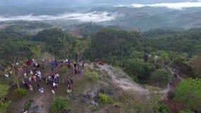 Πριν από την ανατολή με την ομίχλη umphang Ταϊλάνδη φιλμ μικρού μήκους