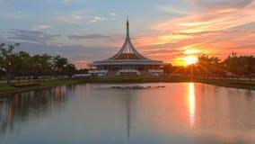 Πριν από το δημόσιο πάρκο ηλιοβασιλέματος, Suanluang Rama 9, Bangk Στοκ φωτογραφίες με δικαίωμα ελεύθερης χρήσης