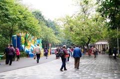 Πριν από το κινεζικό νέο έτος του τοπίου πάρκων Yuexiu Στοκ Φωτογραφία