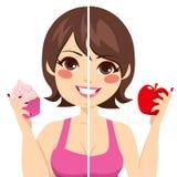 Πριν μετά από τη διατροφή διανυσματική απεικόνιση