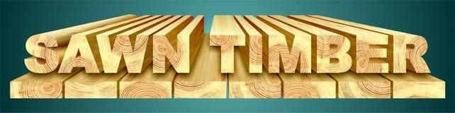 πριονισμένη ξυλεία Απεικόνιση αποθεμάτων