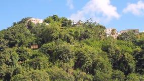 Προάστια της πόλης στο τροπικό νησί Kingstown, Άγιος Vincent και Γρεναδίνες απόθεμα βίντεο