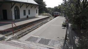 Προαστιακός cogwheel σιδηρόδρομος απόθεμα βίντεο