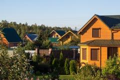 Προαστιακό χωριό Στοκ Εικόνα