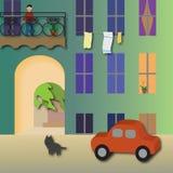 Προαύλιο ‹â€ ‹, άνετο προαύλιο πόλεων †απεικόνιση αποθεμάτων