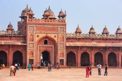 Προαύλιο Jama Masjid σε Fatehpur Sikri, Ουτάρ Πραντές, Ινδία Στοκ εικόνες με δικαίωμα ελεύθερης χρήσης