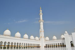 Προαύλιο στο μεγάλο μουσουλμανικό τέμενος Στοκ φωτογραφία με δικαίωμα ελεύθερης χρήσης