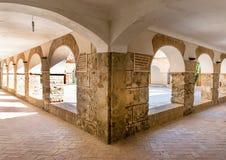 Προαύλιο στο μοναστήρι Virgin Del Saliente Στοκ Φωτογραφίες