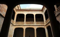 Προαύλιο του θαυμάσιου Castle Buen Amor Topas, Σαλαμάνκα, Ισπανία Στοκ φωτογραφίες με δικαίωμα ελεύθερης χρήσης