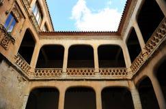 Προαύλιο του θαυμάσιου Castle Buen Amor Topas, Σαλαμάνκα, Ισπανία Στοκ εικόνες με δικαίωμα ελεύθερης χρήσης