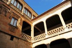 Προαύλιο του θαυμάσιου Castle Buen Amor Topas, Σαλαμάνκα, Ισπανία Στοκ Φωτογραφία