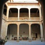 Προαύλιο του θαυμάσιου Castle Buen Amor Topas, Σαλαμάνκα, Ισπανία Στοκ Εικόνα