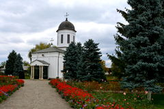 Προαύλιο του μοναστηριού Zamfira Στοκ Εικόνα